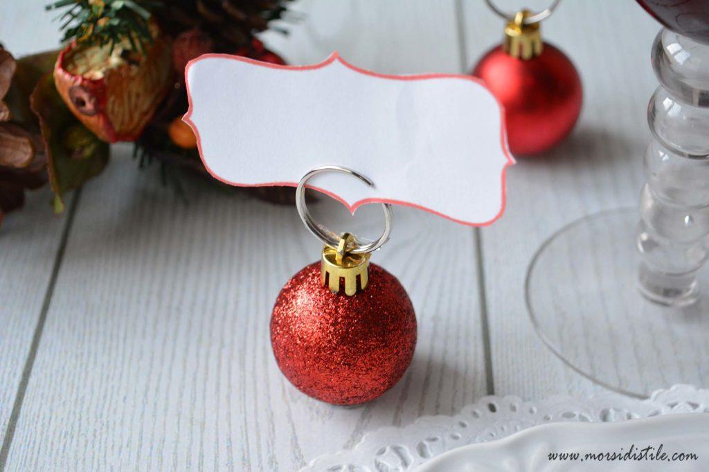 Segnaposto Natalizi Alluncinetto.Pallina Di Natale Segnaposto Un Idea Fai Da Te Per Una Tavola Di