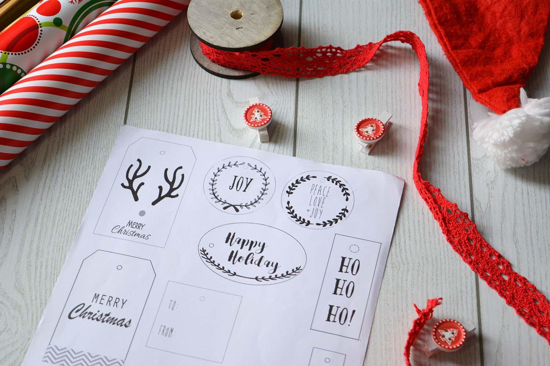 Etichette per regali di Natale da stampare