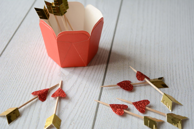Topper Freccia di Cupido per i Cupcake di San Valentino
