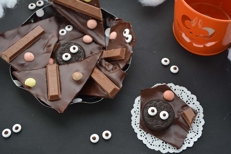 Barrette di Cioccolato di Halloween (Halloween Candy Bark)