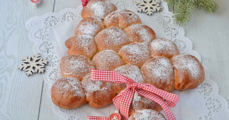 Albero di Pan Brioche dolce (simil danubio)