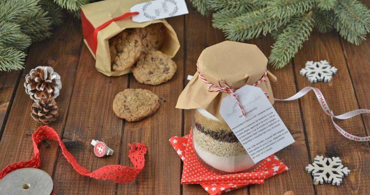 Regali in barattolo: biscotti di avena e cioccolato