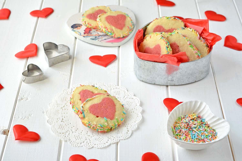 Biscotti con il cuore di San Valentino