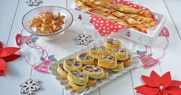 Antipasti con la pasta sfoglia, idee menu di Natale