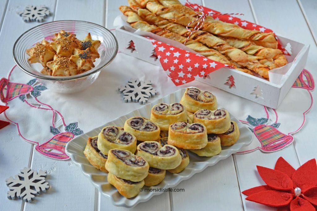 Molto Antipasti con la pasta sfoglia, idee menu di Natale IU15